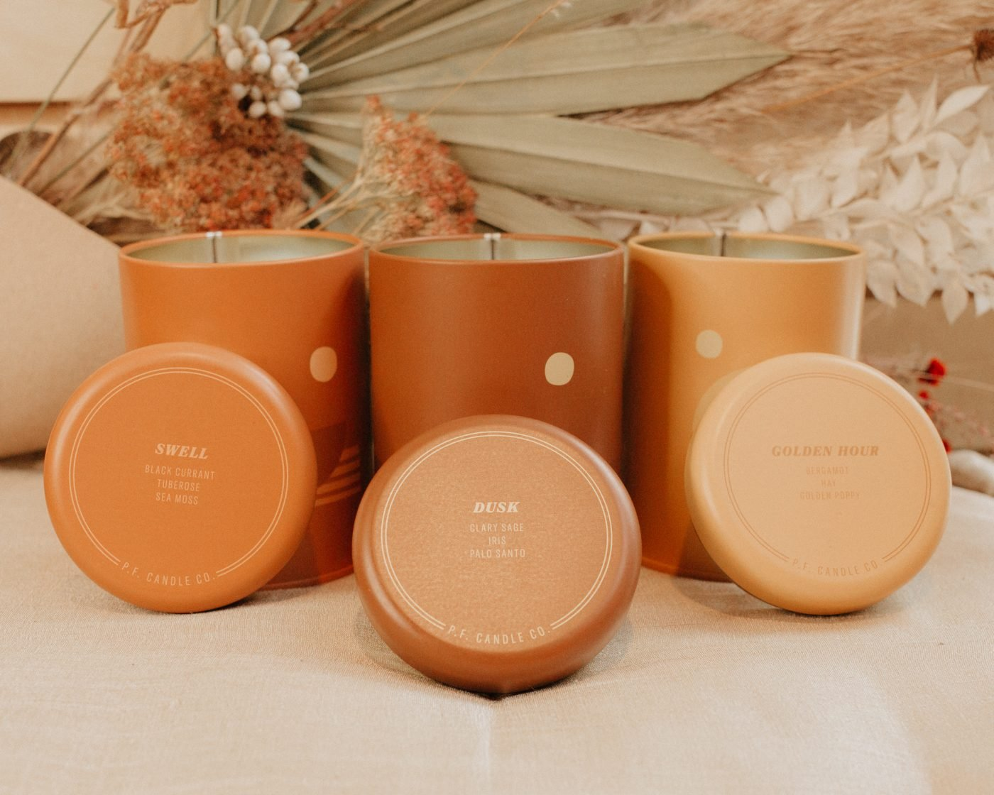 3 Sunset Soy Candles from PF Candle Co