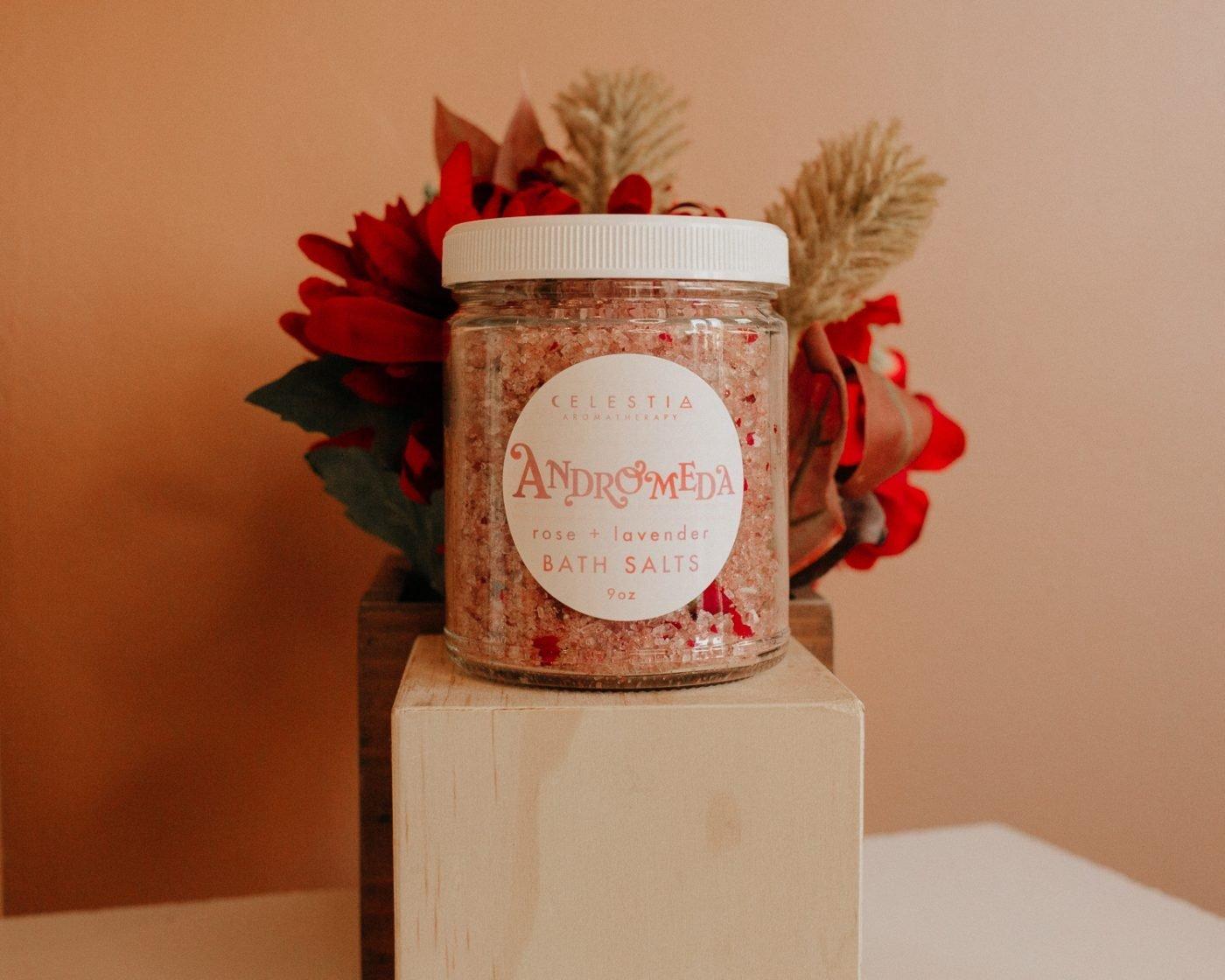 andromeda bath salt by celestia aromatherapy
