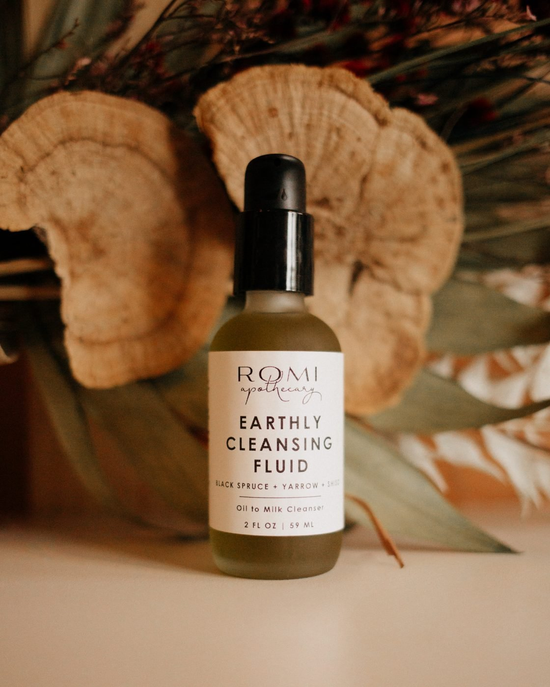 earthly cleansing fluid from romi apothecary