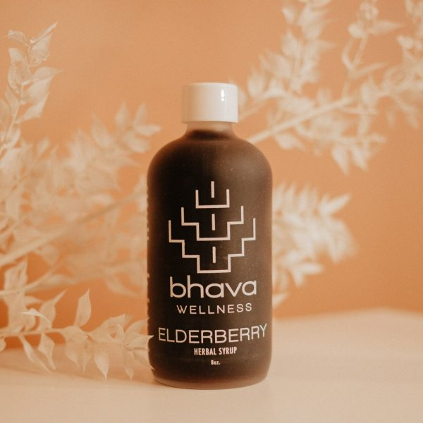elderberry elixir herbal tonic from bhava wellness