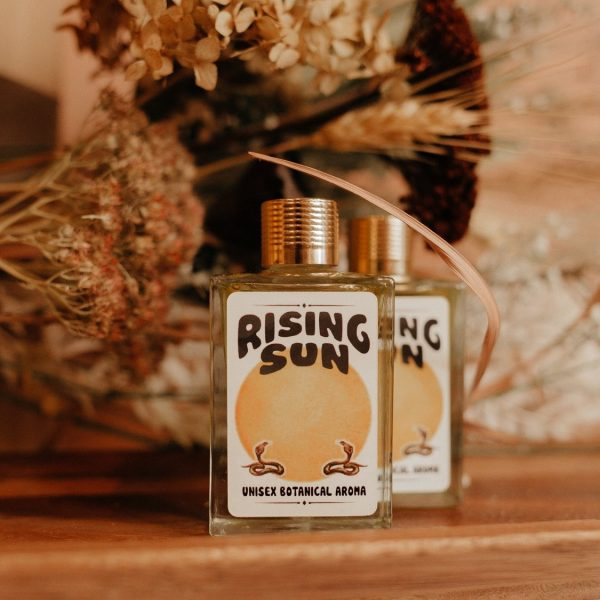 the rising sun aroma oil from wild yonder botanicals