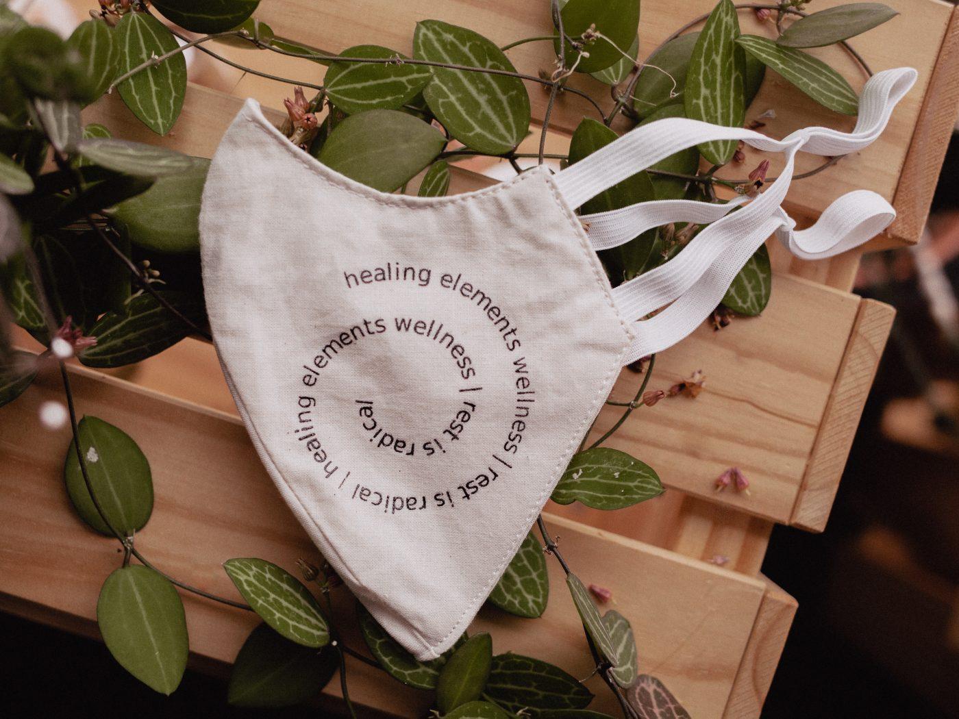 healing elements branded mask rest is radical