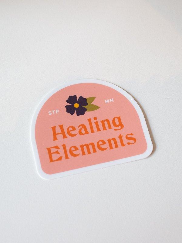 Pink Floral Healing Elements Sticker