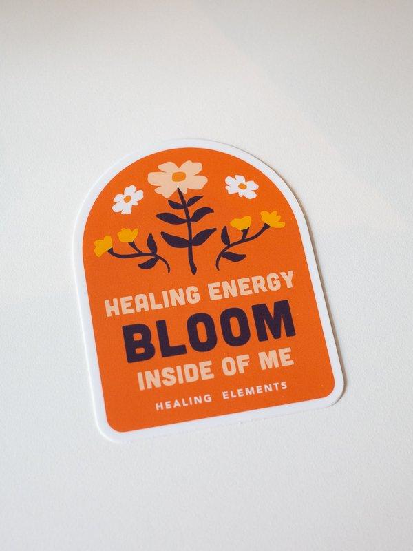 Healing Energy Bloom inside of Me Healing elements sticker