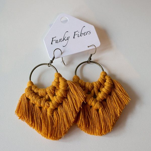 earrings by funky fibers