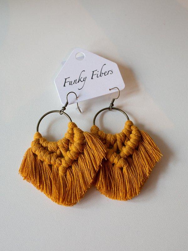 earrings by funky fibers