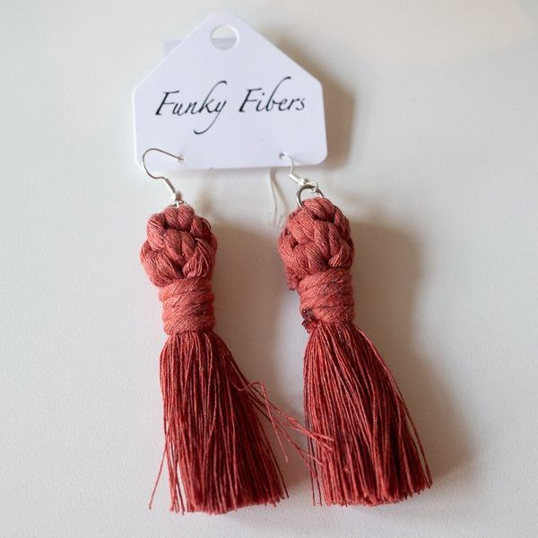 long tassel earrings by funky fibers