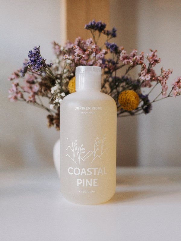 coastal pine body wash from juniper ridge