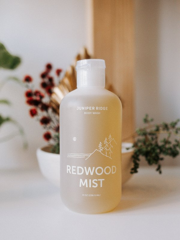 redwood mist body wash from juniper ridge