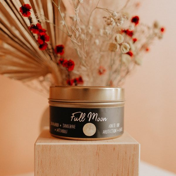 Soy Much Brighter Full Moon Candle in a tin