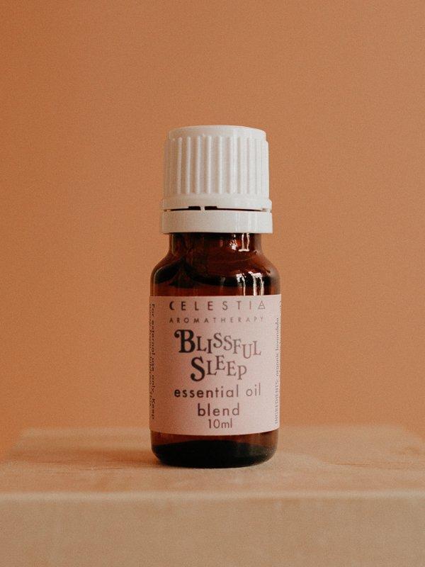 blissful sleep essential oil blend by celestia aromatherapy