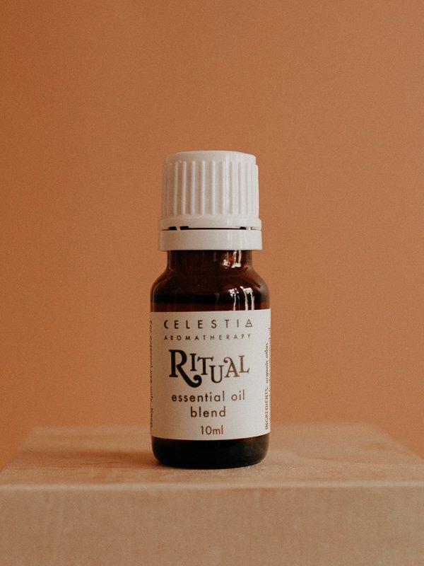 ritual essential oil blend by celestia aromatherapy