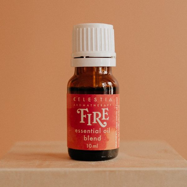 Fire essential oil blend by celestia aromatherapy