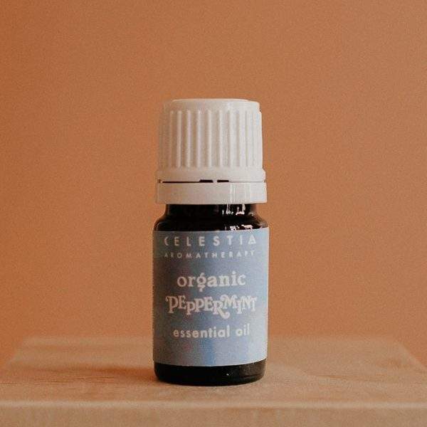 peppermint essential oil by celestia aromatherapy