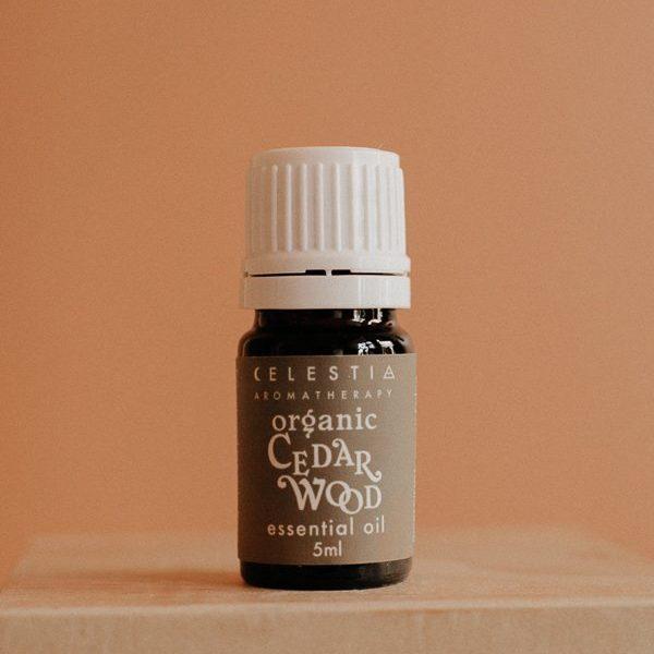 cedarwood essential oil by celestia aromatherapy