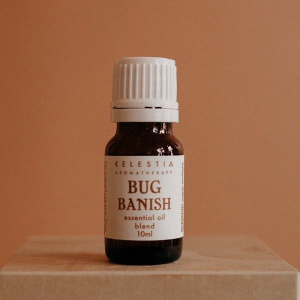 bug banish essential oil blend by celestia aromatherapy