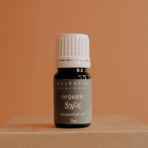sage essential oil by celestia aromatherapy