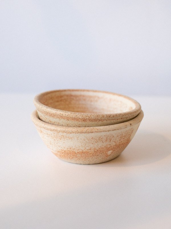 small tan ceremony or sauce bowls made by T.Art collective