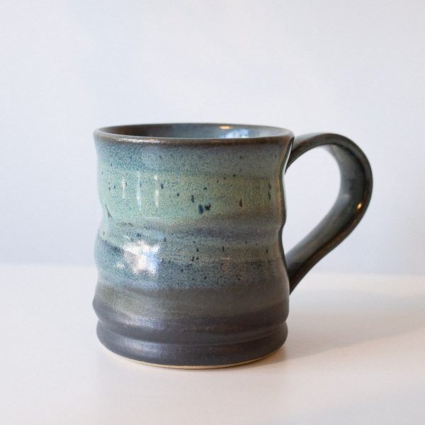 large blue mug made by T.Art Collective