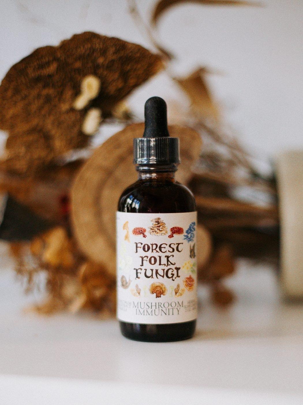 mushroom immunity by forest folk fungi