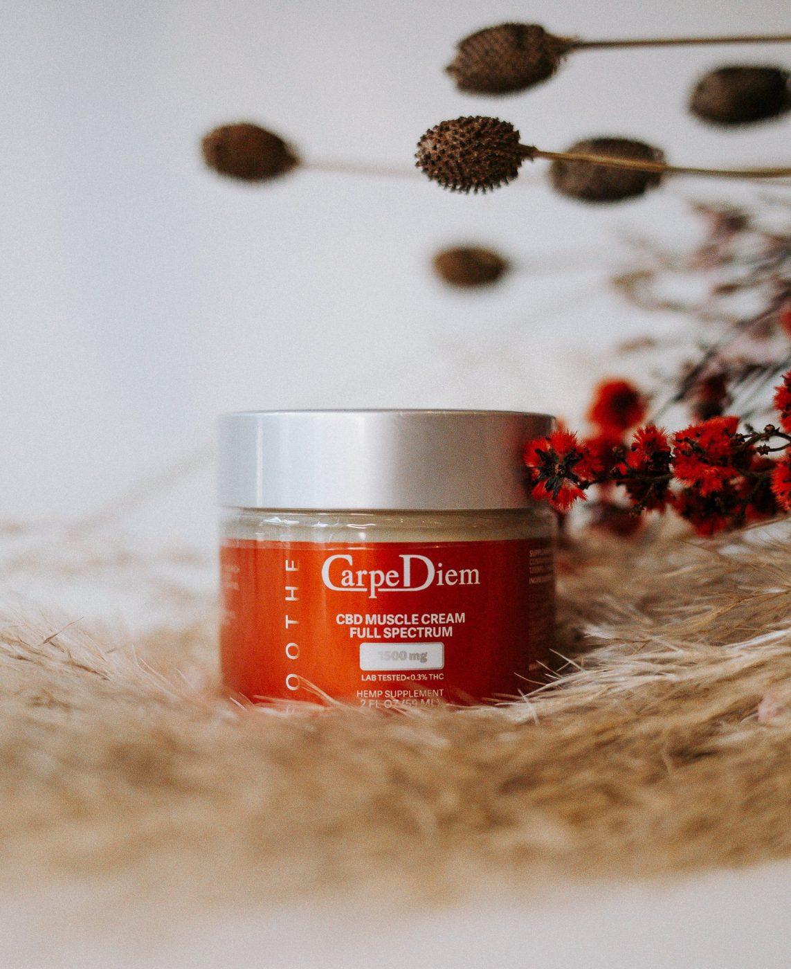 Carpe Diem brand CBD Muscle Cream 1500mg