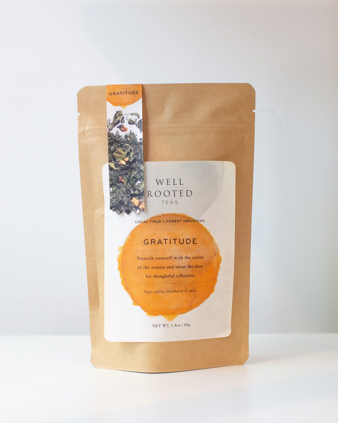 Well Rooted local Minneapolis company Gratitude tea