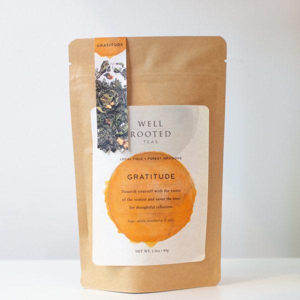 Well Rooted local Minneapolis company Gratitude tea