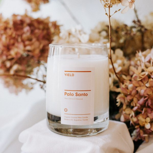 palo santo candle by YIELD