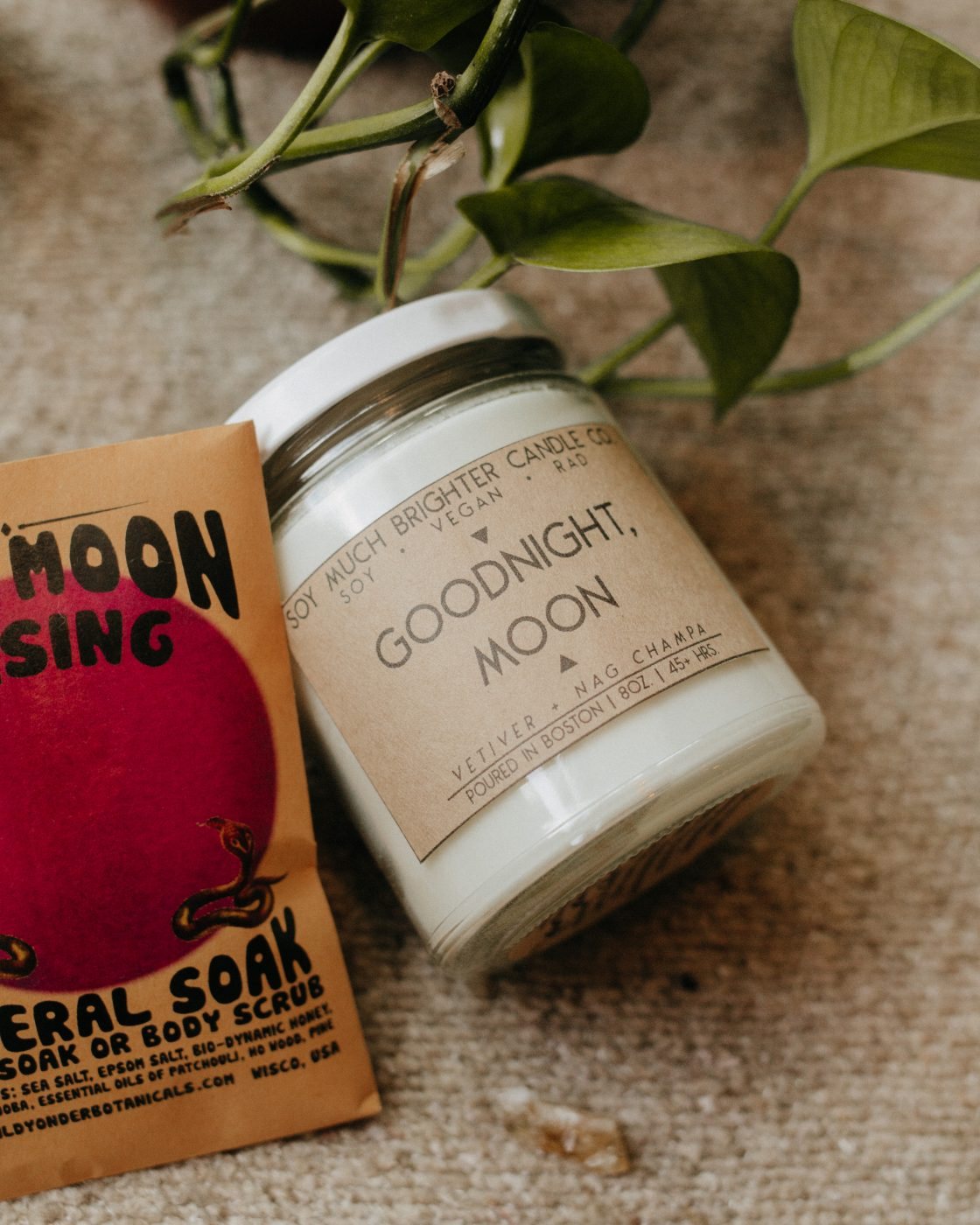 Goodnight Moon Candle by Soy Much Brighter