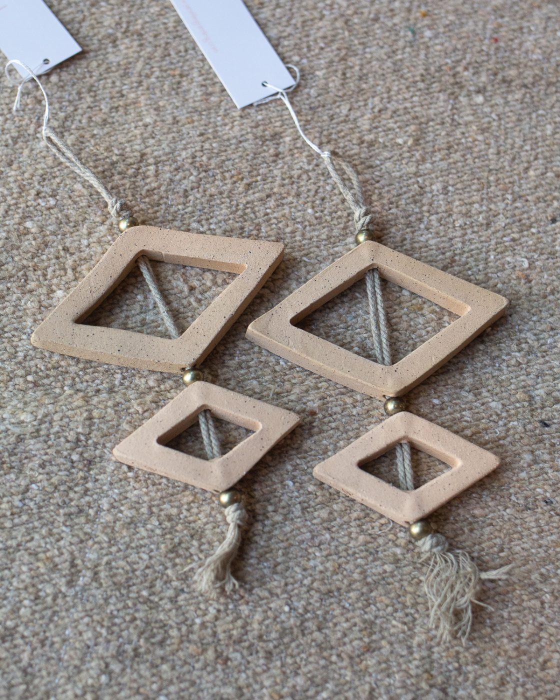 ceramic diamond wall sculptures