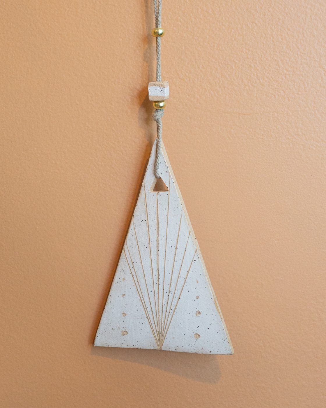 triangle totem wall sculpture