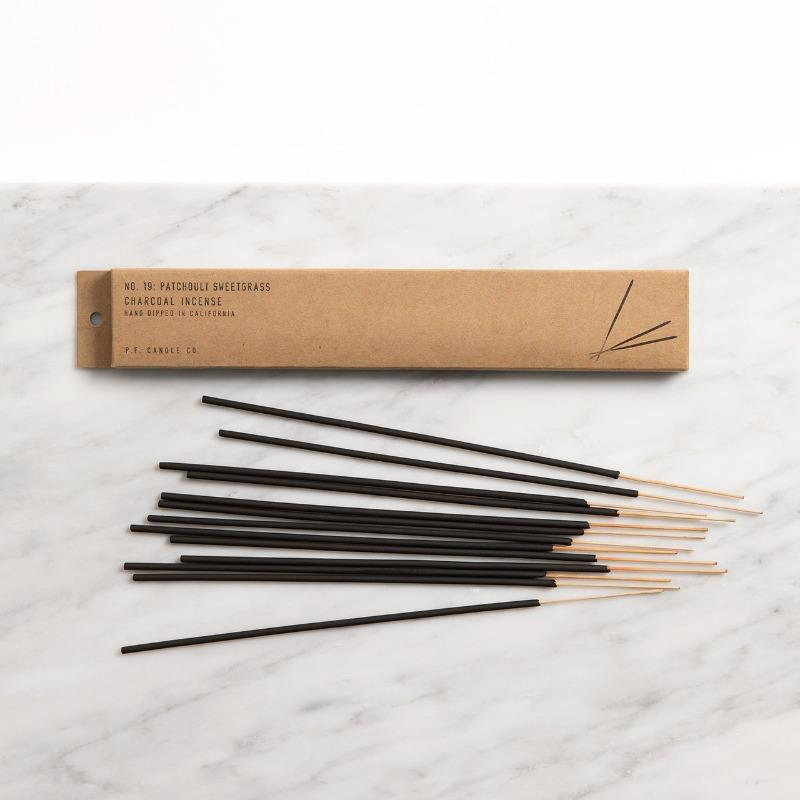 image of patchouli sweetgrass incense packaging and sticks