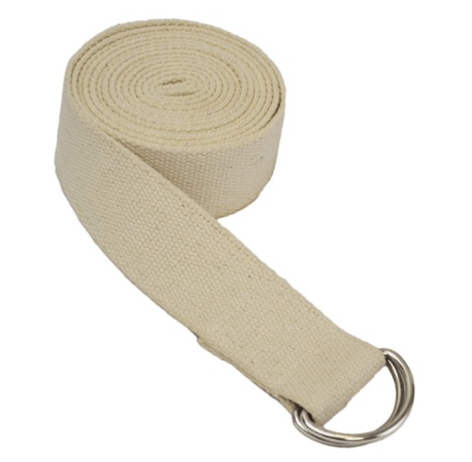cream yoga strap from yoga direct