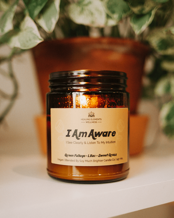 i am aware healing elements scented candle