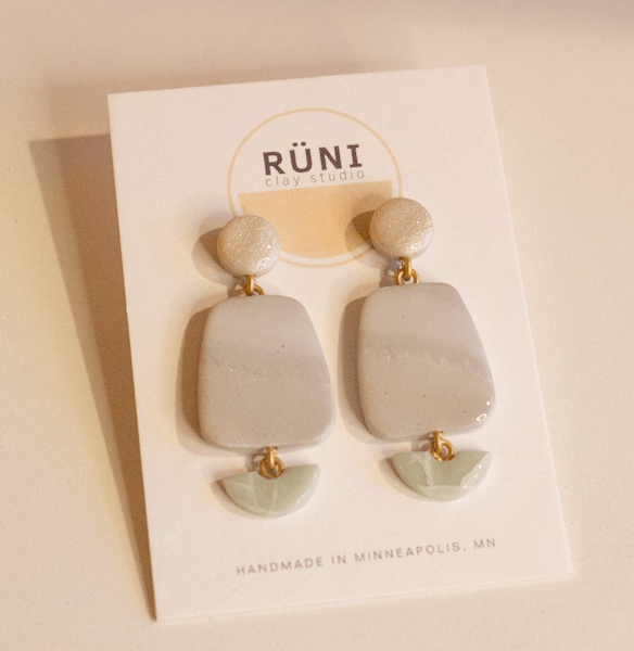 the lora earrings from runi clay studio