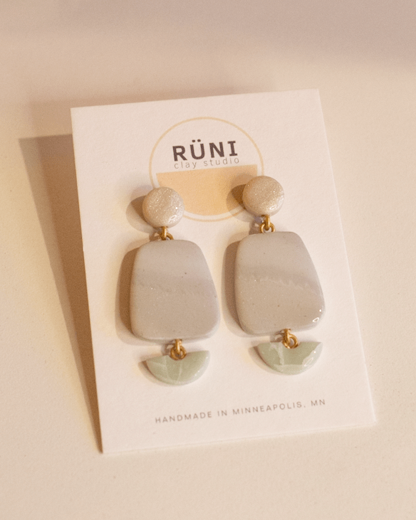 the lora earrings from runi clay studio