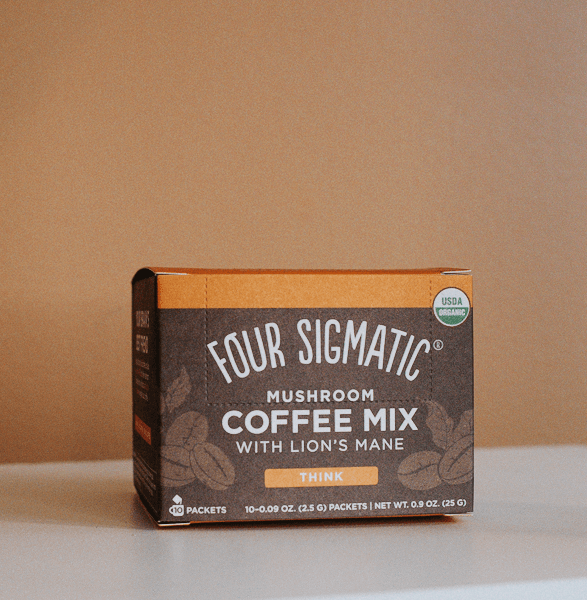 four sigmatic instant coffee with mushrooms