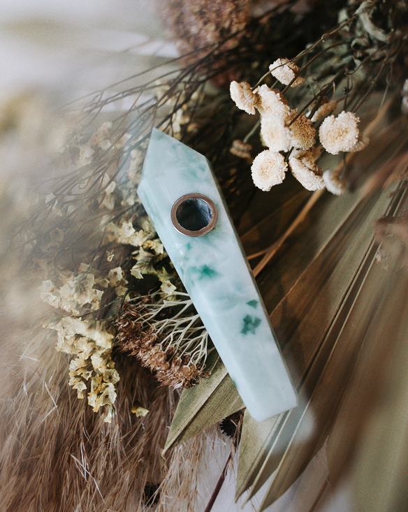 jade crystal pipe diffuser from self ceremony