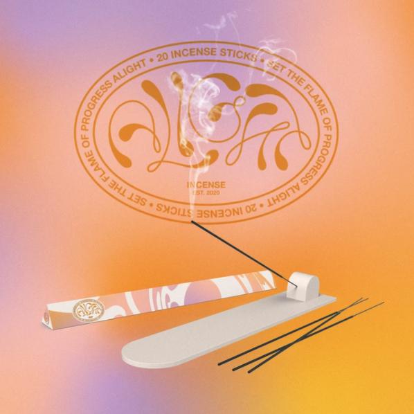 vetiver + amyris + bergamot incense by alight