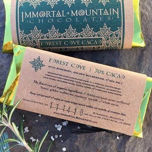 forest cove 70% cacao from immortal mountain