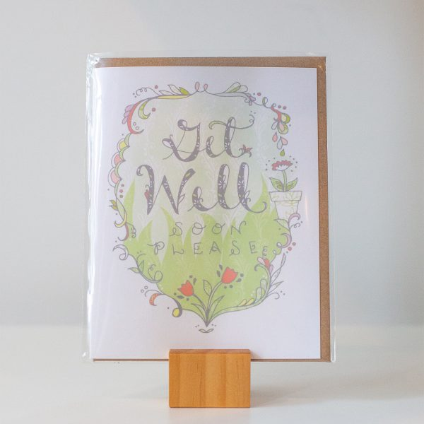 get well soon please greeting card made by hmacdo