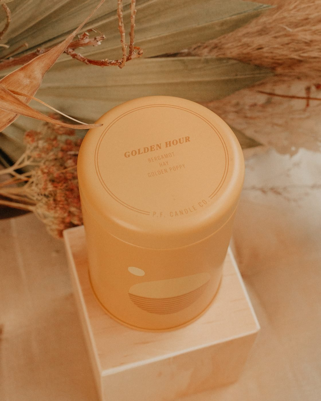 golden hour sunset candle from PF Candle Co