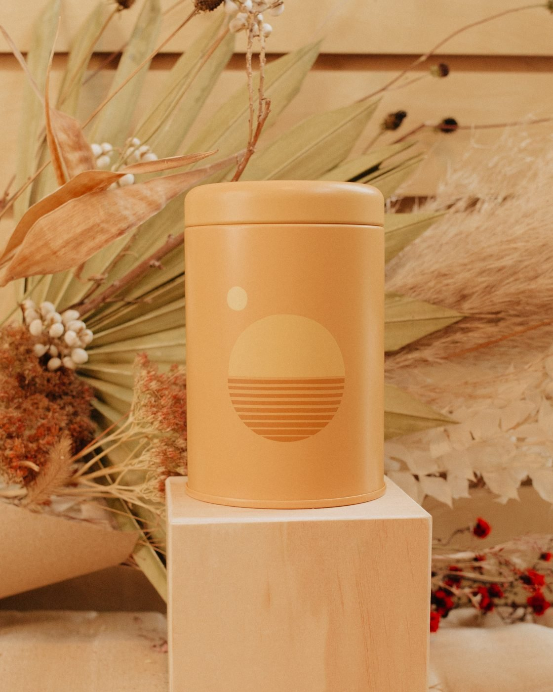 golden hour sunset soy candle from PF candle co