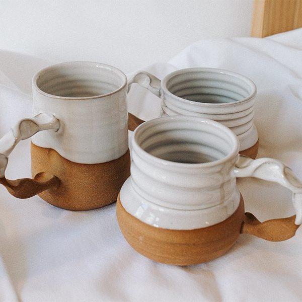 gravesco-pottery-white-glaze-mugs