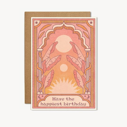 have the happiest birthday card by cai + jo