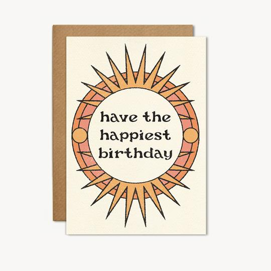have the happiest birthday sundial card by cai and jo