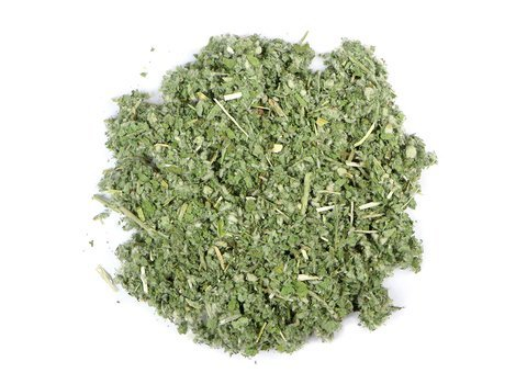 Small pile of loose leaf Horehound herbs from Mountain Rose Herbs