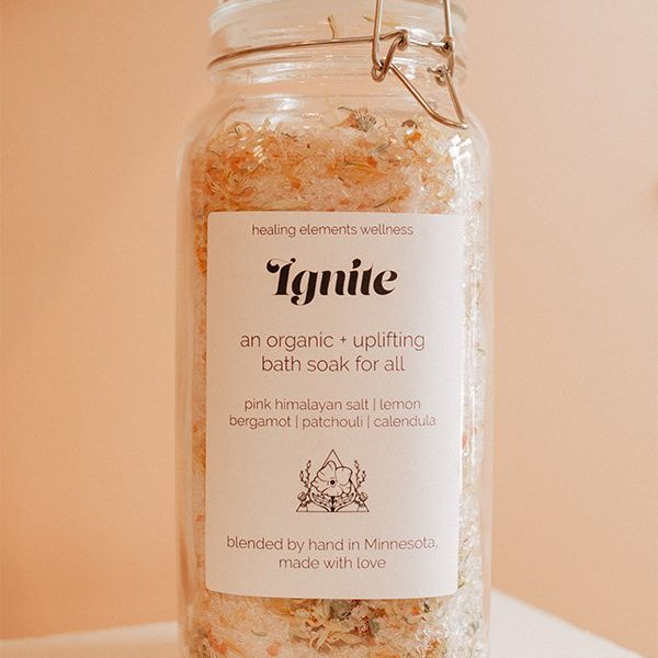 ignite-bath-soak made by healing elements wellness