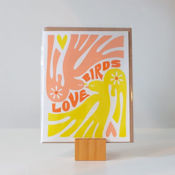 Love Birds greeting card made by Worthwhile Paper