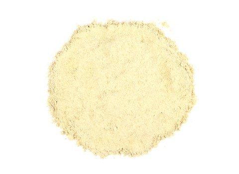 Small pile of loose Maca Powder from Mountain Rose Herbs